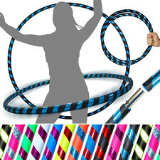 PRO Hula Hoops (Ultra-Grip/Glitter Deco) Weighted TRAVEL Hula Hoop (100cm/39')