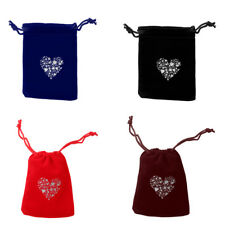 10pcs/Lot Heart Velvet Drawstring Pouches Wedding Gift Candy Jewelry Bags 9x7cm
