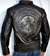 Affliction Black Premium - LEMMY - Men's Leather Biker Jacket - NEW - Black