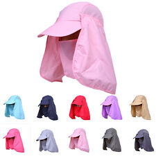 Outdoor Face Neck Sun Protection Anti UV Fishing Hiking Travel Flap Hat Cap