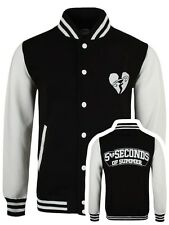 5 Seconds Of Summer Men's Black 5SOS Varsity Jacket