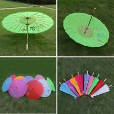 Mixed Colors Handmade Parasol Chinese Cloth Floral Umbrella Wedding Dance Props