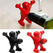 Funny Happy Man Guy Wine Opener Stopper Bottle Cork Plug Home Bar Device Tool