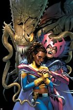 Marvel X-Men: The End V2 N4 Cover: Brood, Deathbird, Reyes and Cecelia Poster