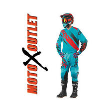 2017 Cyan Red Answer Racing Syncron Motocross Gear Pants Jersey MX Adult Youth
