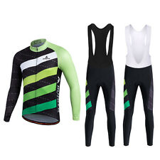 Cycling Jersey and Bib Pants Long Sleeve Men Bicycle Clothing Bike Set S-XXXL