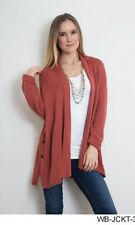 SIMPLY NOELLE SIDE BUTTON RIB JACKET