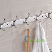 Stainless Steel Wall Door Mounted Hanger Coat Hat Cloth Towel Rack Hooks 【US】