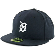New Era 59Fifty Detroit Tigers Home Dark Navy Fitted Cap MLB AC On Field Hat