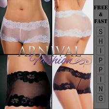 NEW lingerie underwear LACY FRENCH KNICKERS lace panties BOY SHORTS PANTY plus