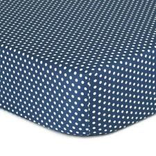 The Peanut Shell Dot Fitted Bassinet Sheet (Navy)