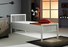 BOSTON METAL BED in BLACK/WHITE ( 2ft6 / 3ft / 4ft / 4ft6 ) with MATTRESS choice