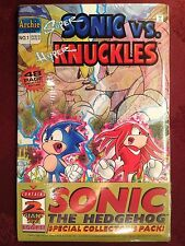 SONIC HEDGEHOG SPECIAL Collector Set SUPER SONIC vs HYPER KNUCKLES & CHAOTIX MNT