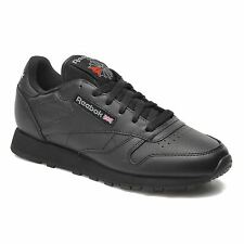 Reebok Classic Leather Black Youths Boys Girls Trainers Sneakers