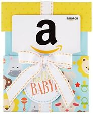 Amazon.com Gift Card for Any Amount in a Hello Baby Reveal (Classic White Card D