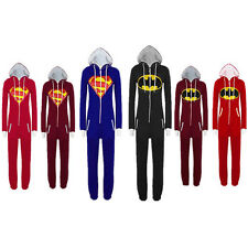 Unisex Adult Pajamas Onesie Men Women Batman Superman Sleepsuit Cosplay jumpsuit