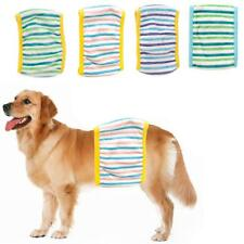 Male Pet Dog Clothes Physiological Pants Striped Sanitary Diaper Nappy Size S-L