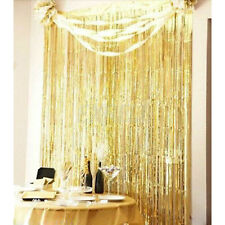 Metallic Fringe Curtain Party Foil Tinsel Room Decor 3' x 8' Door Christmas