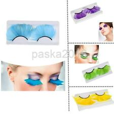 Feather Eyelashes Eye Lashes for Party Dance Halloween Costume Stage Makeup