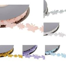 20yd Butterfly Garlands Ribbon Lace Trim Wedding Supply Xmas Decor Sewing Crafts