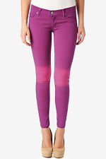 HUDSON Jeans Purple Pink Ombre Krista Super Skinny Stretch Lyocell Pants NWT