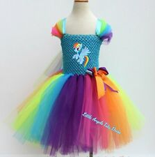 Rainbow Dash My Little Pony Tutu Dress, Handmade Fancy Dress Costume , MLP Dress