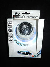 NIB Media Yoyo Speaker by Mutant, Glow Ring, Portable Speaker, White