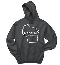 Made In Wisconsin Sweatshirt Funny Home State Pride Holiday Gift Hoodie
