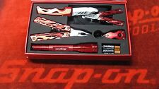 SNAP ON TOOLS 5 PIECE MULTI TOOL SET IN BOX LED FLASHLIGHT KNIFE KEYCHAIN