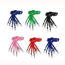10x Lanyard Neck Strap for ID Badge Holder Keys Phone with Metal Clip 5 Colors