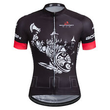 Black Mens Cycling Shirts Short Sleeve New Bike Jerseys Mountain Bike Wear Top