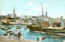 Dublin Kingstown Boats in Harbour Old Irish Photo - Size Selectable - Ireland