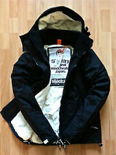 SUPERDRY MENS SHERPA WINDCHEATER  JACKET BLACK FLEECED LINED BNWT COAT  £89.99