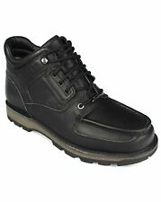 Rockport Mens Fashion Footwear Umbwe Trail Leather Lace Up Boots Black