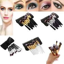 10pcs Makeup Face Powder Foundation Blush Brushes Set Kabuki Cosmetic Tool + Bag