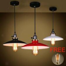 Industrial Hanging Ceiling Light Pendant Lampshade Fixture Chandelier-3 Colors