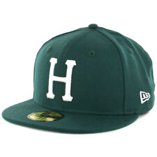 "HUF x New Era 59Fifty ""Basic Classic H"" Fitted Hat (Hunter Green) Men's Wool Cap"