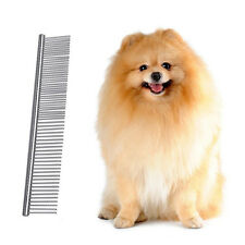 Pet Dog Cat Hair Fur Shedding Grooming Trimmer Flea Stainless Steel Comb Brush