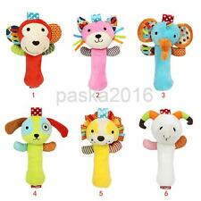 Kids Baby Toddler Soft Plush Hand Bells Rattles Toy Animal Shapes Xmas Gifts