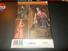 Simplicity COSTUME Pattern 2851 Ms Western Saloon Girl/Madame ~ CanCan Dancer