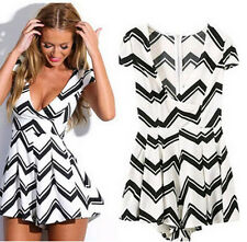 Fashion Design Sexy Women Jumpsuit V-Neck Rompers Womens Jumpsuit Stripe Rompers