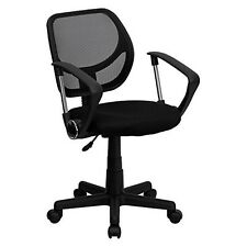 Mid-Back Mesh Task Chair and Computer Chair with Arms