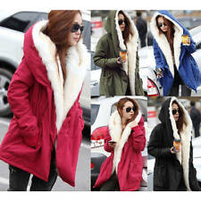 NEW WomenS Lady Thicken Warm Winter Coat Hood Parka Overcoat Long
