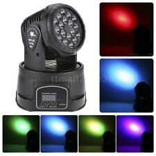 18x3W LED 3/9CH RGB Moving Head Light Wash Effect Stage Lamp Sound Home New I2Q5