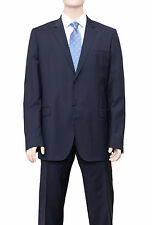 Calvin Klein Collection Navy Blue Pinstriped Two Button Wool Suit
