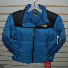 THE NORTH FACE BOYS NUPTSE  DOWN JACKET- #A3NW- NAUTICAL BLUE- MEDIUM -NEW
