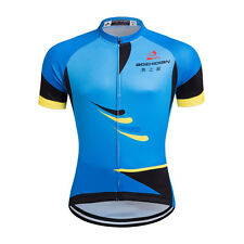 Blue Mens Mountain Bike Jacket Road Biking Jersey Cycling Clothing Top Large