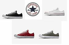 Converse Chuck Taylor All Star Low Top Shoes Canvas Sneakers Chucks Red, Black