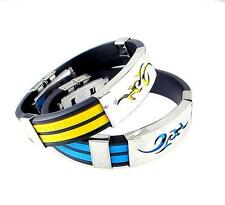 Line US Fashion Steel Cuff Bangle Cool Men LO New Wristband Stainless Bracelet