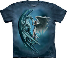 The Mountain Stokes Angel & Dragon Fantasy Mythological Adult T Tee Shirt 104889